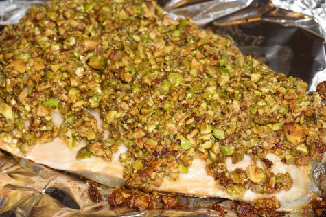 Pistachio crusted salmon website