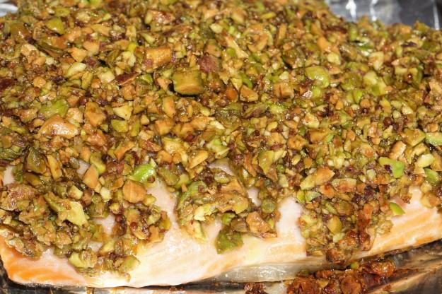 Pistachio crusted salmon blog